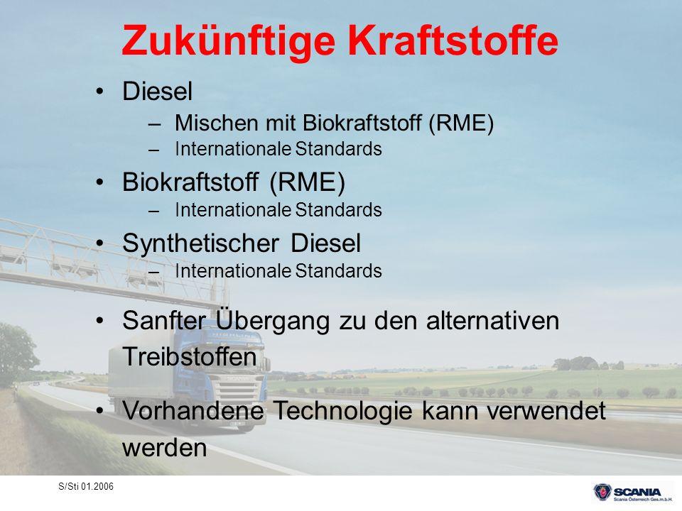 S/Sti 01.2006 Zukünftige Kraftstoffe Diesel –Mischen mit Biokraftstoff (RME) –Internationale Standards Biokraftstoff (RME) –Internationale Standards S