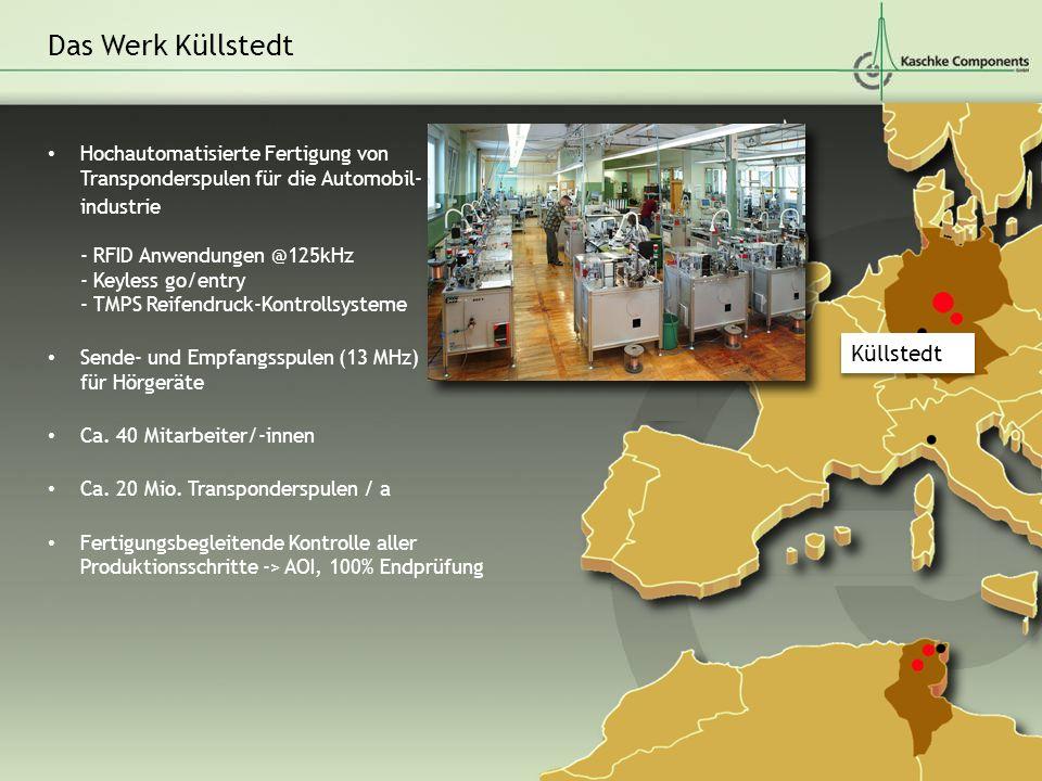 Hochautomatisierte Fertigung von Transponderspulen für die Automobil- industrie - RFID Anwendungen @125kHz - Keyless go/entry - TMPS Reifendruck-Kontr