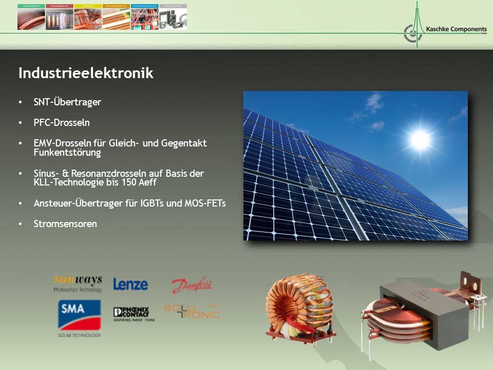 Industrieelektronik SNT–Übertrager PFC–Drosseln EMV-Drosseln für Gleich- und Gegentakt Funkentstörung Sinus- & Resonanzdrosseln auf Basis der KLL-Tech