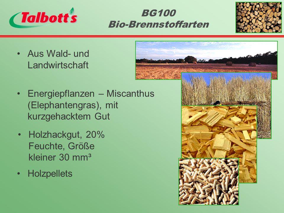 BG100 Bio-Brennstoffarten Aus Wald- und Landwirtschaft Energiepflanzen – Miscanthus (Elephantengras), mit kurzgehacktem Gut Holzhackgut, 20% Feuchte, Größe kleiner 30 mm³ Holzpellets