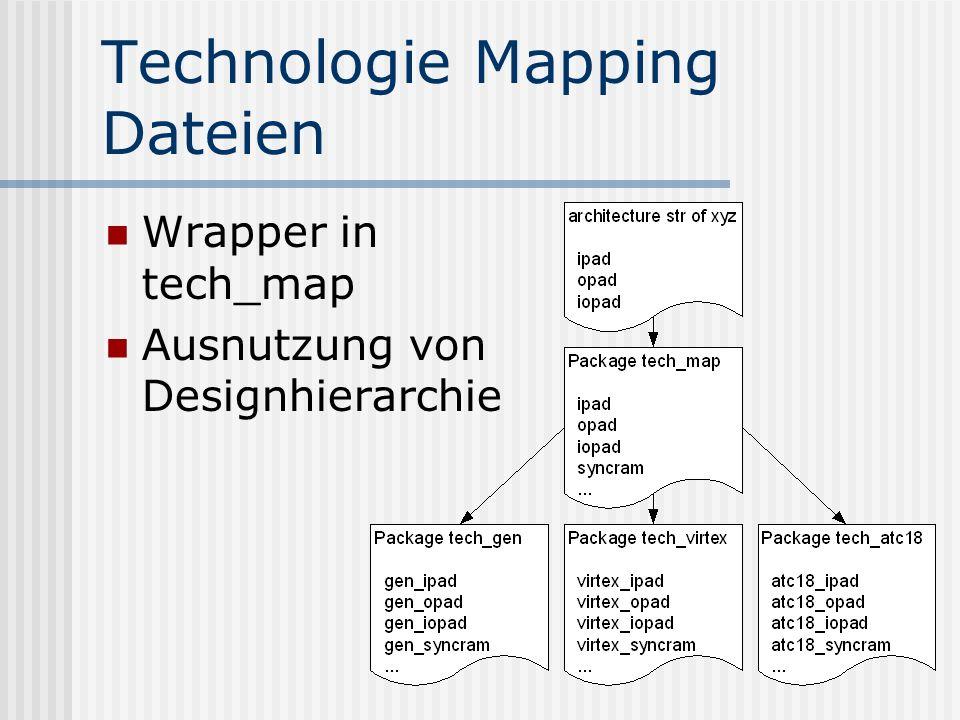 Technologie Mapping Dateien Wrapper in tech_map Ausnutzung von Designhierarchie