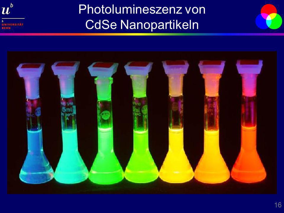 16 Photolumineszenz von CdSe Nanopartikeln