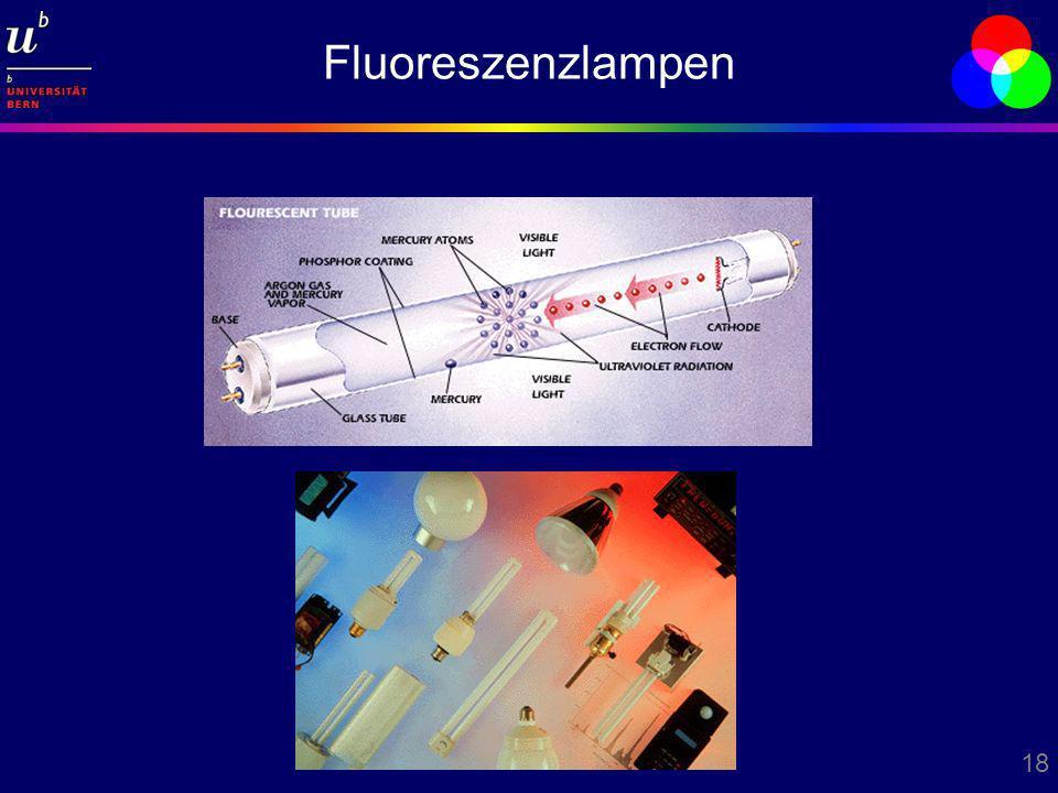 18 Fluoreszenzlampen