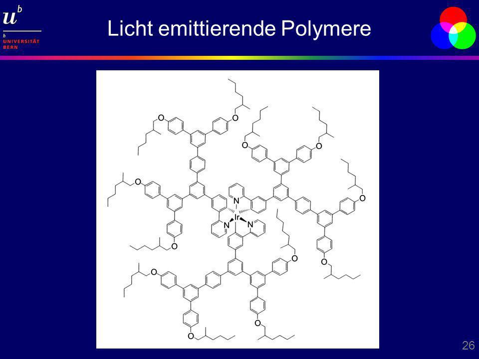 26 Licht emittierende Polymere