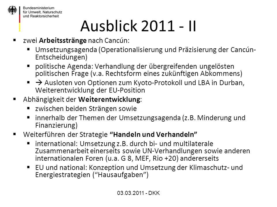 03.03.2011 - DKK Ausblick 2011 - III Outreach u.a.