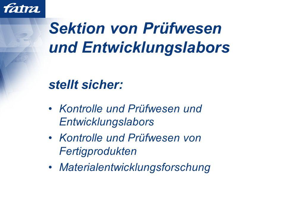 Sektion von Prüfwesen und Entwicklungslabors Offerte für externe Firmen -Mustervorbereitung und Vorbereitung der Vermischungen -Auswertung von Rohstoffen und Produkten (alle Prüfmethoden sind nach den bezüglichen Normen) -Fachliche Beratung und Konsultationen
