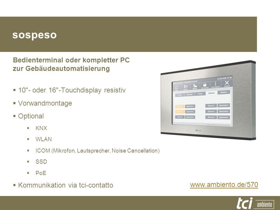 Produktfamilie sospeso Bedienterminal oder kompletter PC zur Gebäudeautomatisierung 10