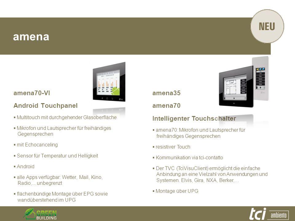 amena amena70-VI Android Touchpanel Multitouch mit durchgehender Glasoberfläche Mikrofon und Lautsprecher für freihändiges Gegensprechen mit Echocance
