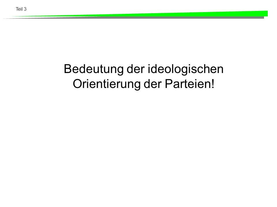 Teil 3 Bedeutung der ideologischen Orientierung der Parteien!
