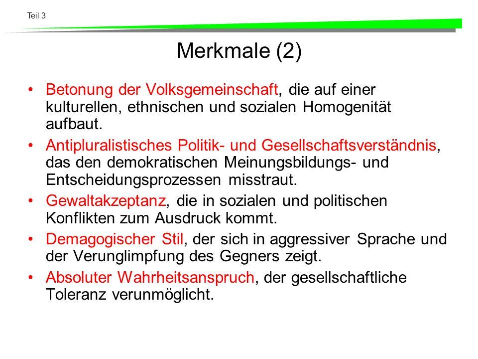 Teil 3 Wichtigste Themen der BR-Parteien FDPdrs.% CVPdr s.