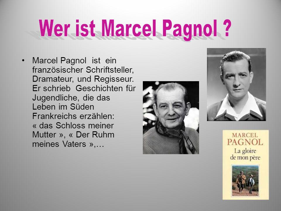Marcel Pagnol ist ein französischer Schriftsteller, Dramateur, und Regisseur. Er schrieb Geschichten für Jugendliche, die das Leben im Süden Frankreic