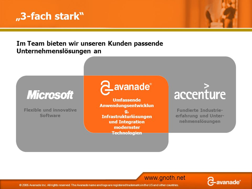 www.gnoth.net © 2005 Avanade Inc.All rights reserved.