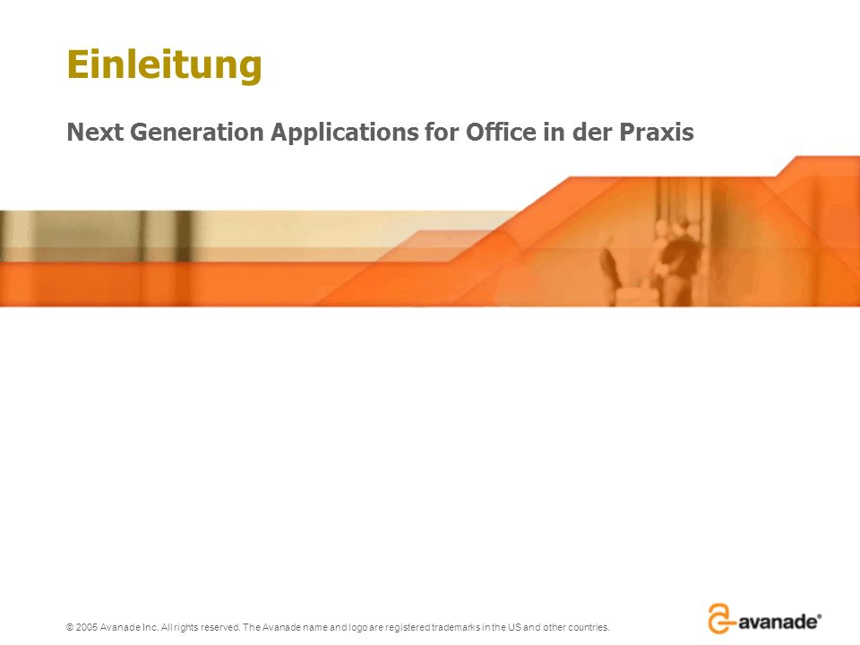 © 2005 Avanade Inc.All rights reserved.