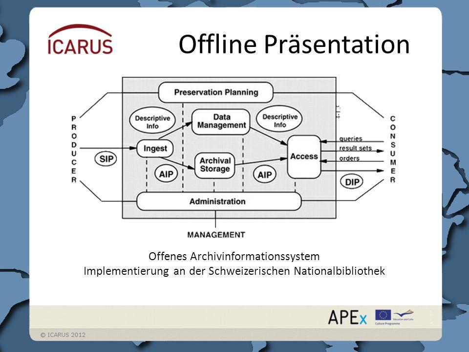 Offline Präsentation Offenes Archivinformationssystem Implementierung an der Schweizerischen Nationalbibliothek