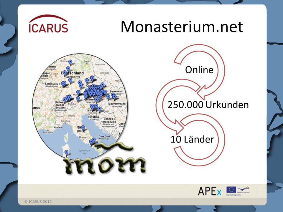 Monasterium.net Online 250.000 Urkunden 10 Länder