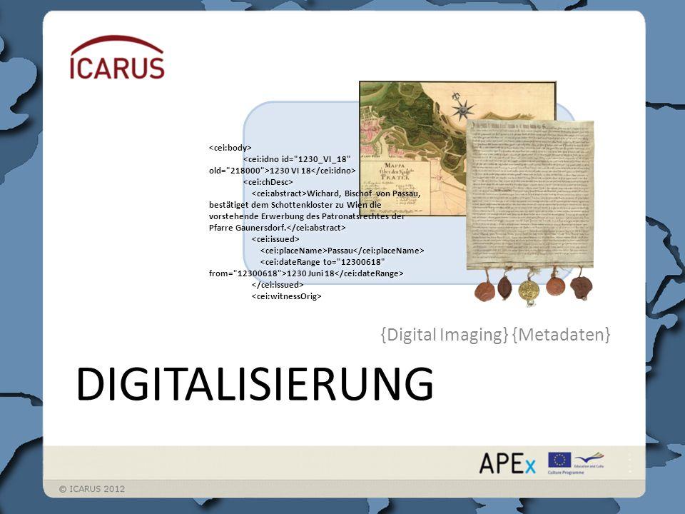 Digitalisierung Bilder Metadaten