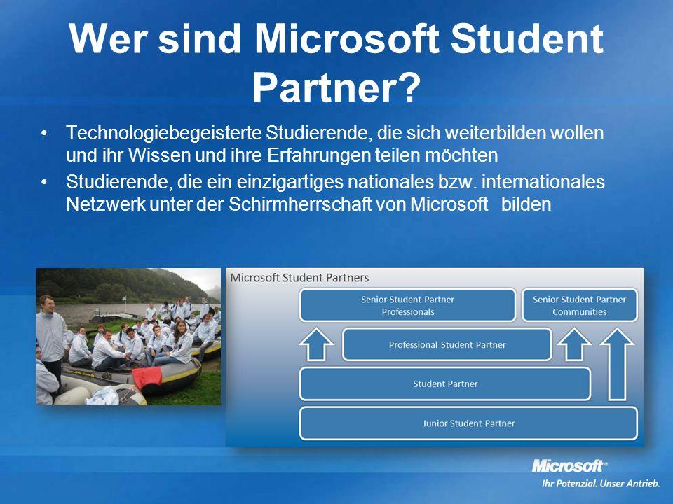 Wer sind Microsoft Student Partner.