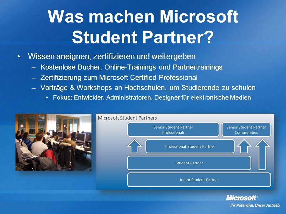 Was machen Microsoft Student Partner.