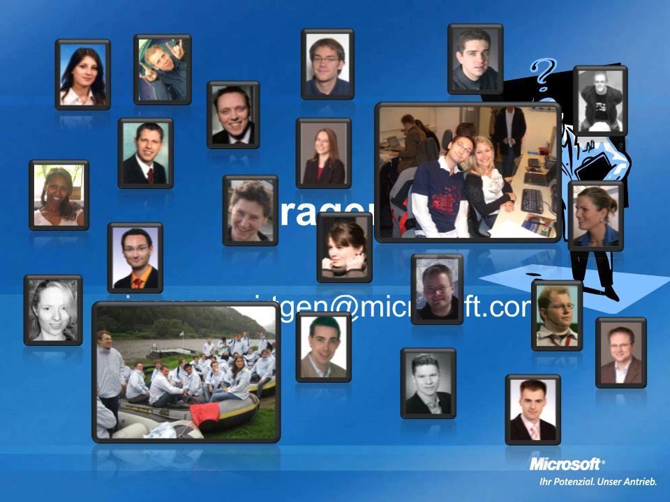 Fragen? juergen.wirtgen@microsoft.com