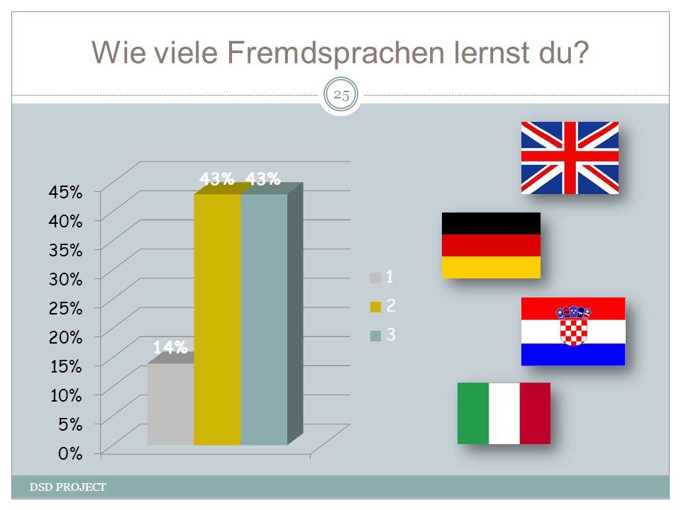 Wie viele Fremdsprachen lernst du? DSD PROJECT 25
