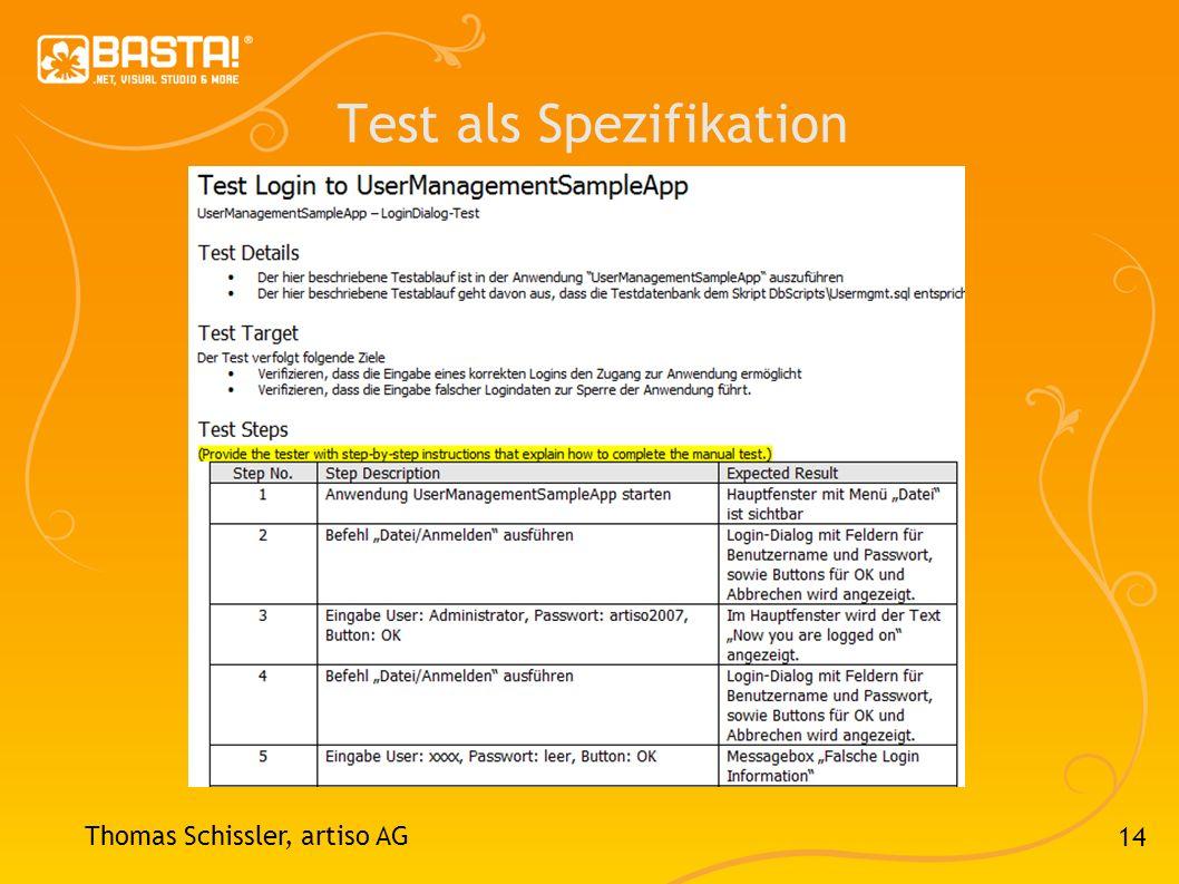14 Test als Spezifikation Thomas Schissler, artiso AG