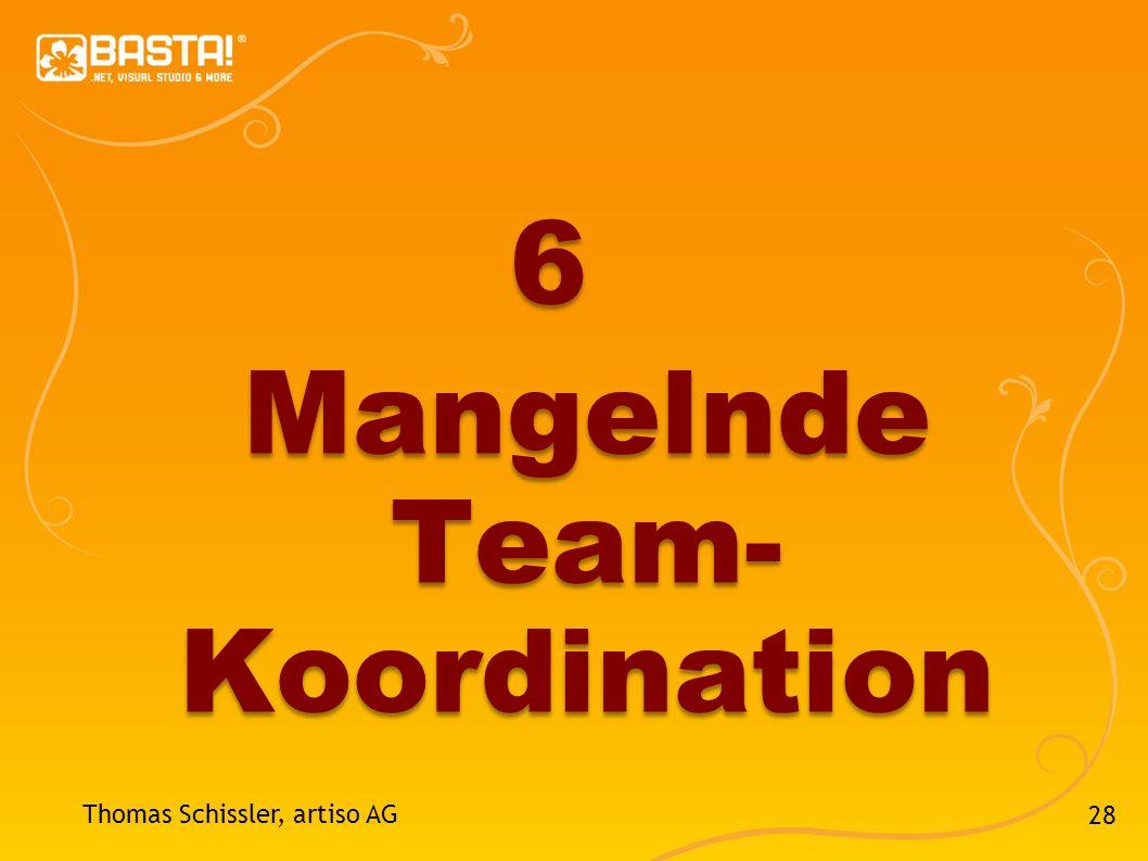 28 Thomas Schissler, artiso AG 6 Mangelnde Team- Koordination
