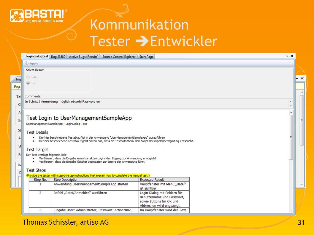31 Kommunikation Tester Entwickler Thomas Schissler, artiso AG