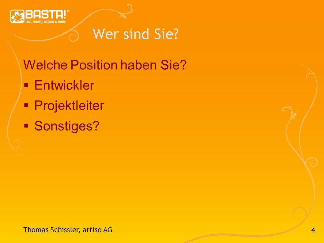 15 Thomas Schissler, artiso AG 3 Unzureichende Planung