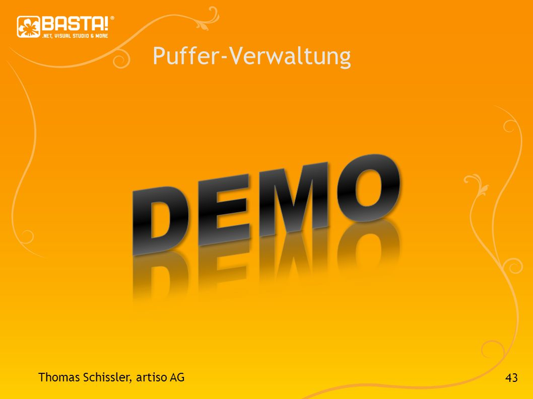43 Puffer-Verwaltung Thomas Schissler, artiso AG