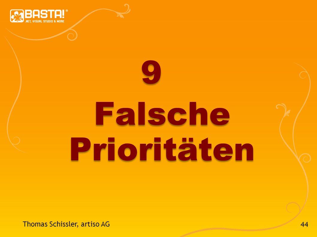 44 Thomas Schissler, artiso AG 9 Falsche Prioritäten