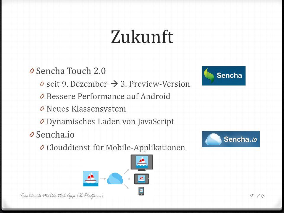 / 13 Zukunft 0 Sencha Touch 2.0 0 seit 9. Dezember 3.