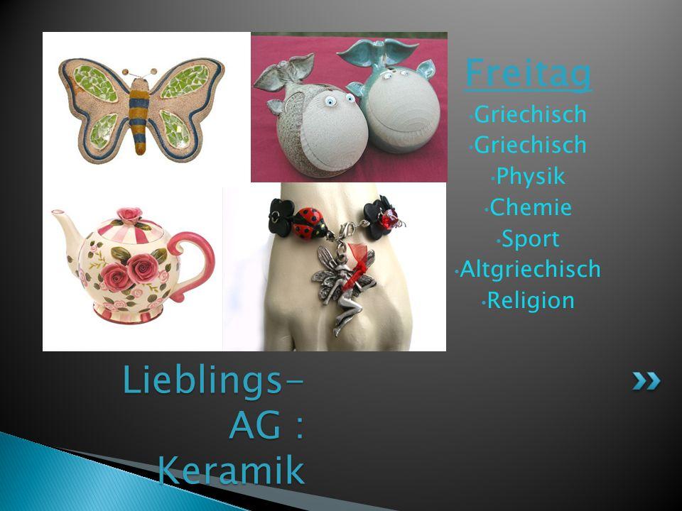 Lieblings- AG: Yoga Donnerstag Englisch Homers Sport Informatik Mathe Hauswirtschaft Physik