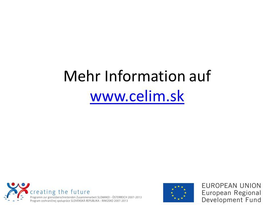 Mehr Information auf www.celim.sk www.celim.sk