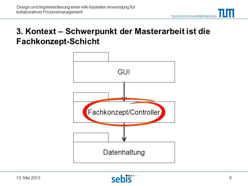 Technische Universität München Design und Implementierung einer wiki-basierten Anwendung für kollaboratives Prozessmanagement 3. Kontext – Schwerpunkt