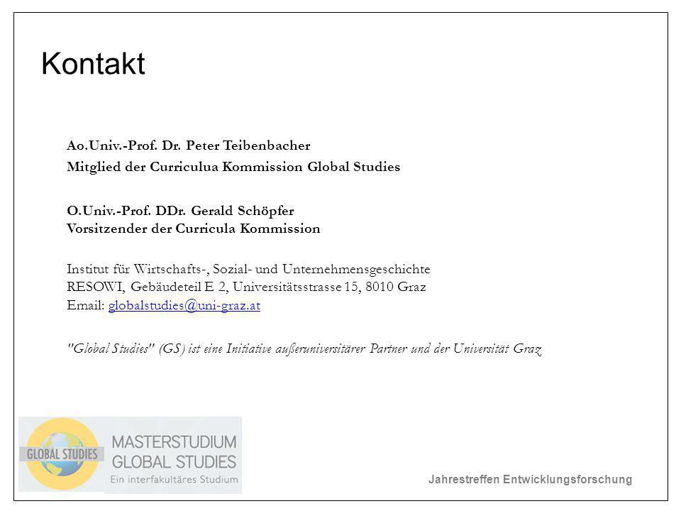 Jahrestreffen Entwicklungsforschung Kontakt Ao.Univ.-Prof.