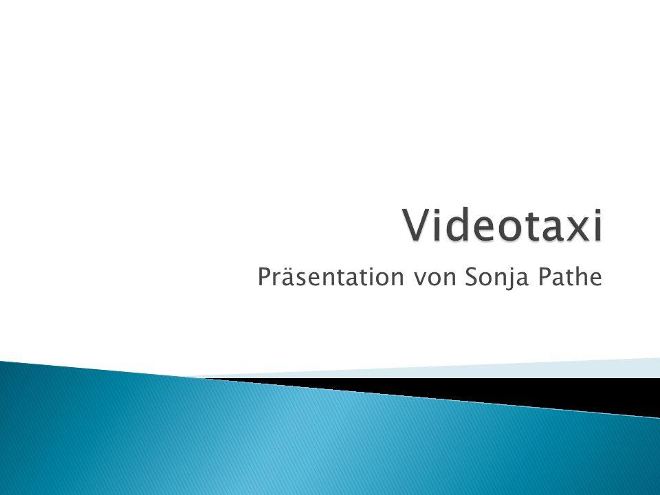 Video Taxi: ist ein Programm das für das SWR - Olympia (Athen) Projekt entwickelt wurde.