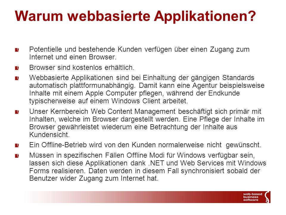 8 Warum webbasierte Applikationen.
