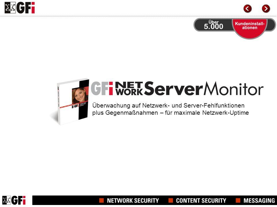 Überwachung auf Netzwerk- und Server-Fehlfunktionen plus Gegenmaßnahmen – für maximale Netzwerk-Uptime