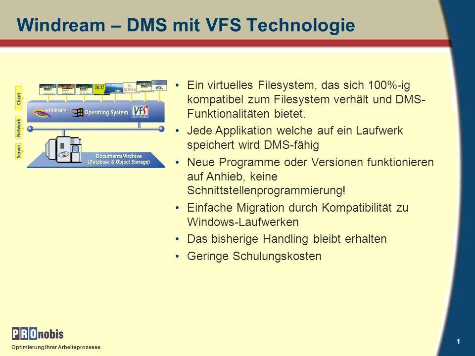 Optimierung Ihrer Arbeitsprozesse 2 Windream Anwenderinterface Windows ExplorerAnwendungen Speichern unter...