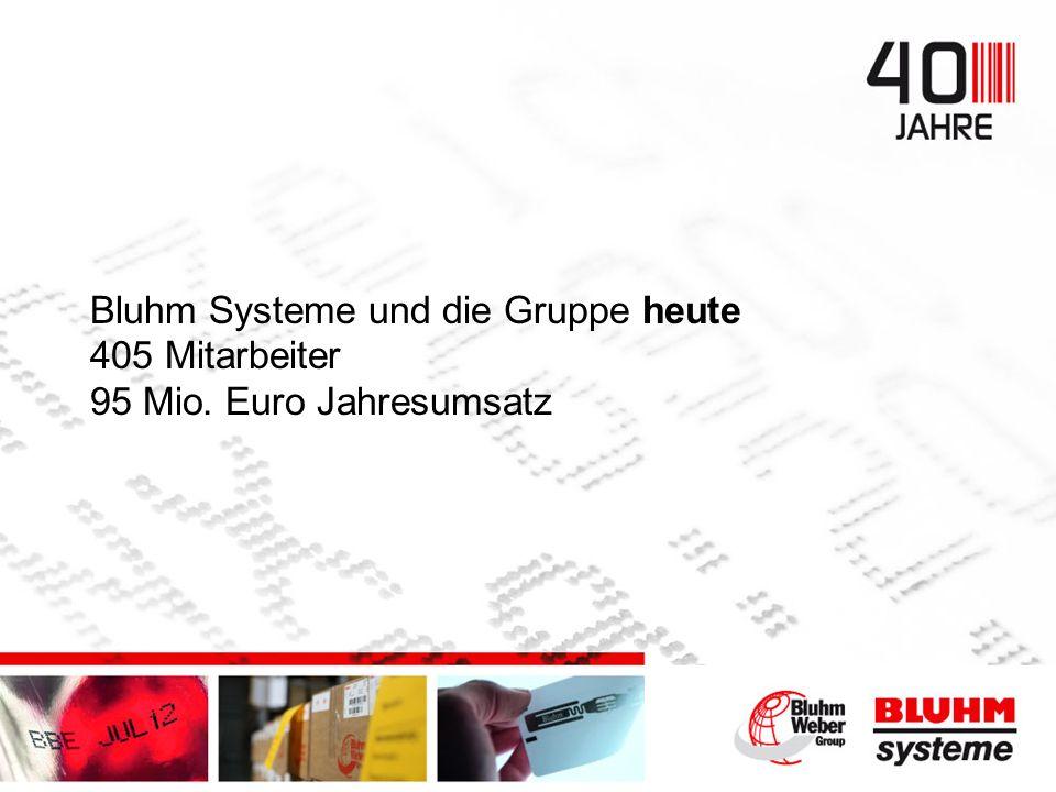Bluhm Systeme und die Gruppe heute 405 Mitarbeiter 95 Mio. Euro Jahresumsatz