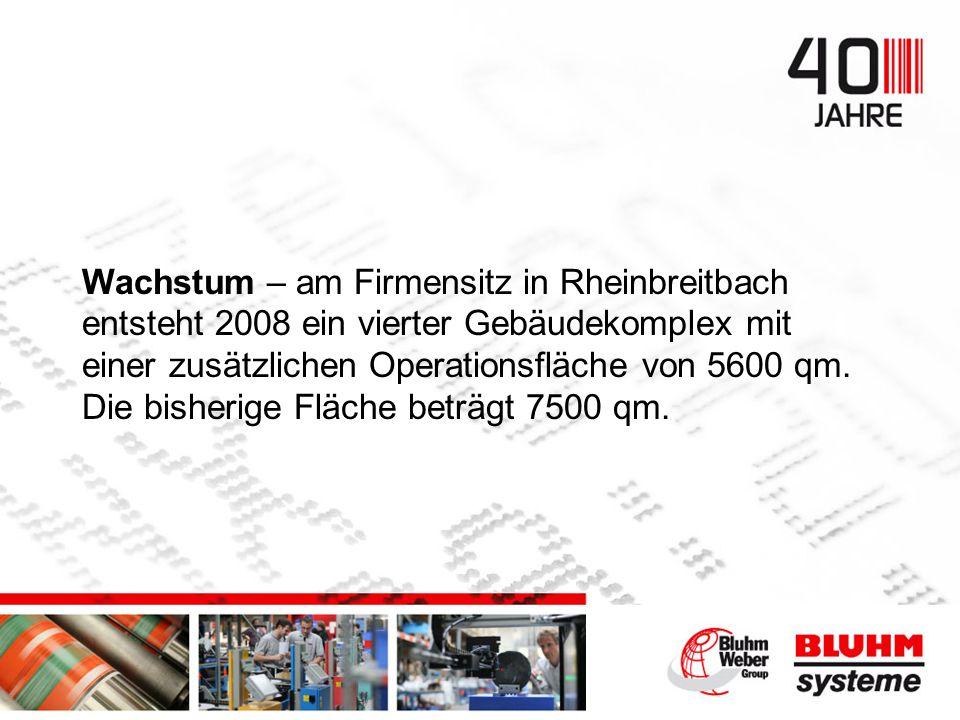 Wachstum – am Firmensitz in Rheinbreitbach entsteht 2008 ein vierter Gebäudekomplex mit einer zusätzlichen Operationsfläche von 5600 qm.