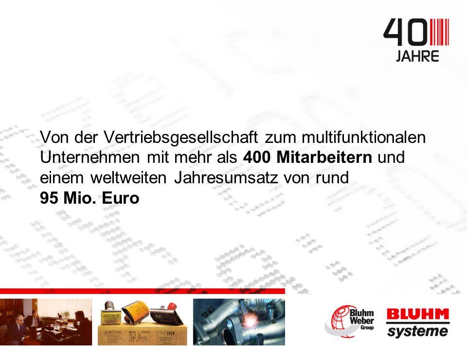 Von der Vertriebsgesellschaft zum multifunktionalen Unternehmen mit mehr als 400 Mitarbeitern und einem weltweiten Jahresumsatz von rund 95 Mio.