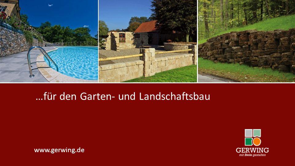 www.gerwing.de …für den Garten- und Landschaftsbau