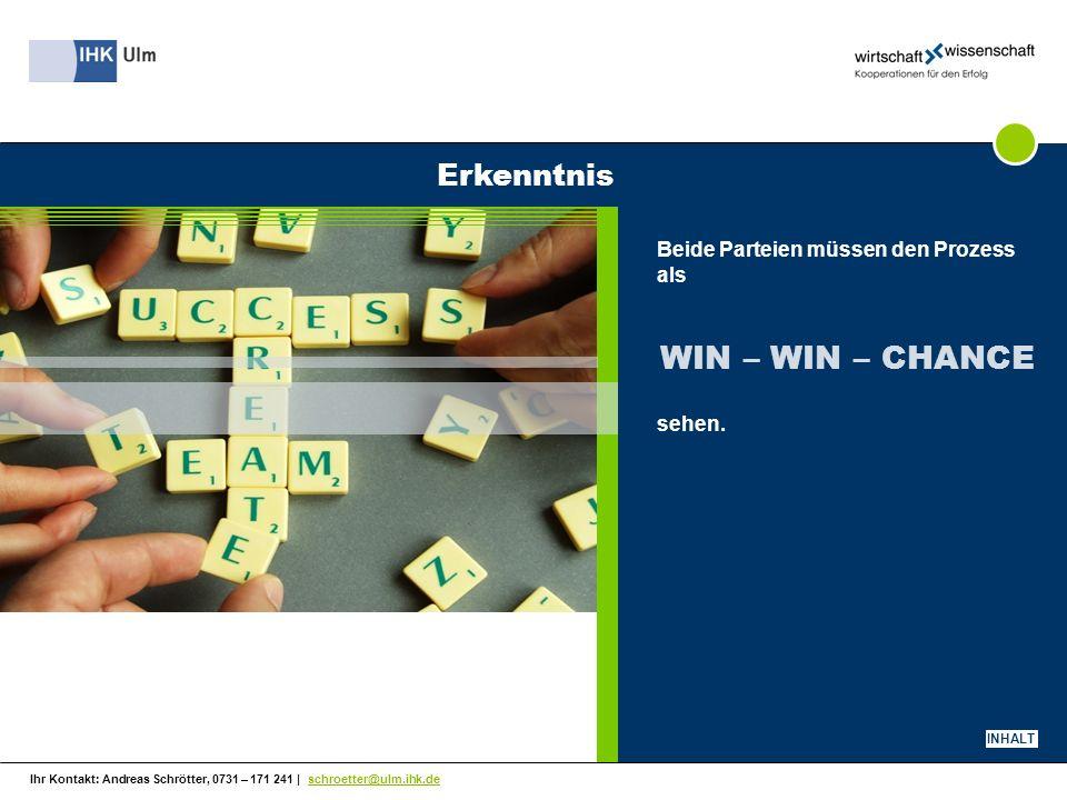 Ihr Kontakt: Andreas Schrötter, 0731 – 171 241 | schroetter@ulm.ihk.de Die ideale Kooperation .