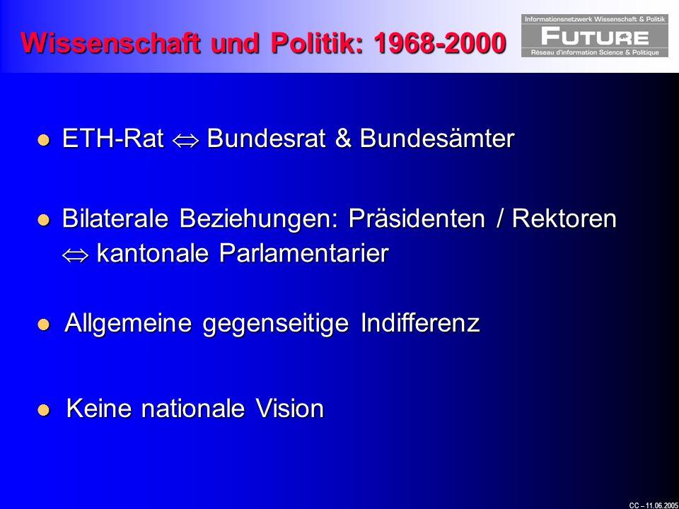 CC – 11.06.2005 « Wir sind Laien » Peter Bieri, Ständerat Ehemaliger Präsident der WBK