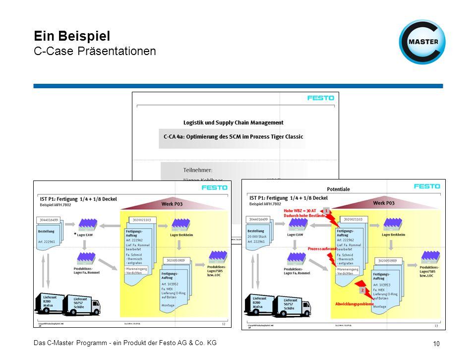 Das C-Master Programm - ein Produkt der Festo AG & Co. KG 10 Ein Beispiel C-Case Präsentationen