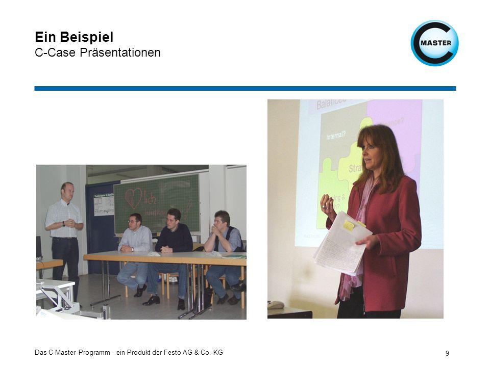 Das C-Master Programm - ein Produkt der Festo AG & Co. KG 9 Ein Beispiel C-Case Präsentationen