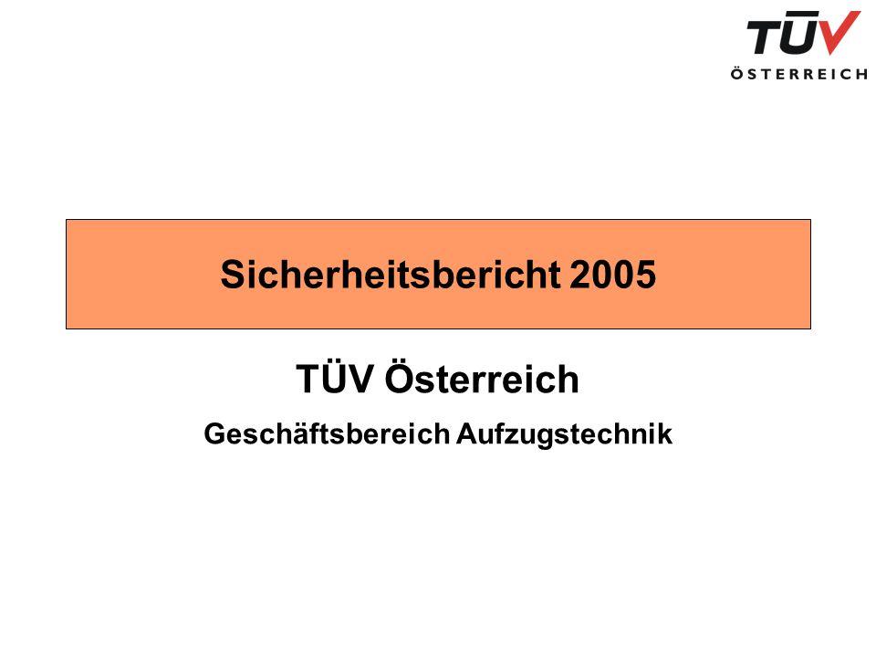 Sicherheitsbericht 2005 TÜV Österreich Geschäftsbereich Aufzugstechnik