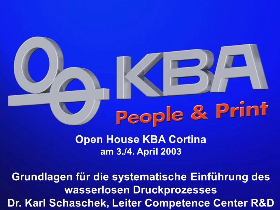 KBA, Competence Center R&D, Dr.Karl Schaschek Open House KBA Cortina am 3./4.