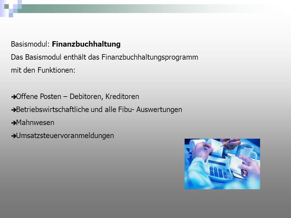 Funktionen FibuOnline ist eine ASP Lösung.